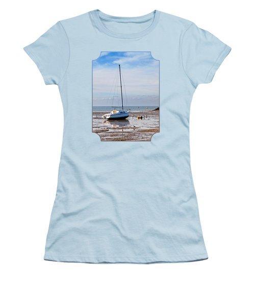 Waiting For High Tide Women's T-Shirt (Junior Cut) by Gill Billington