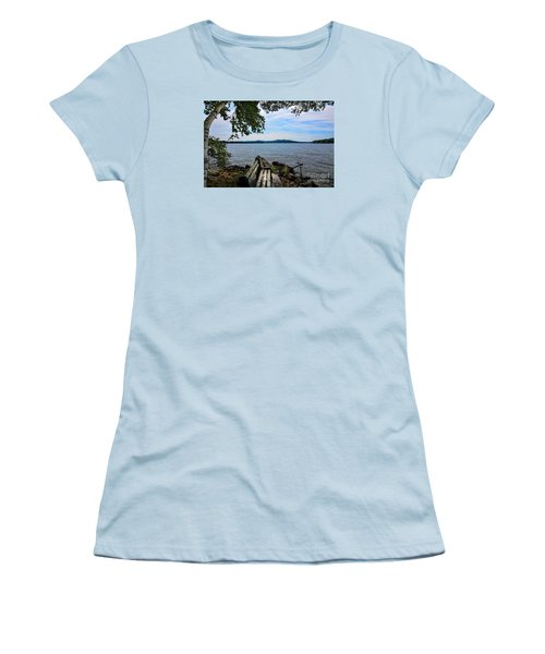 Women's T-Shirt (Junior Cut) featuring the photograph Waiting For Me by Mim White