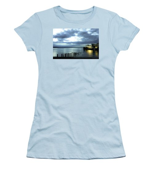 Waiting For The Ferry Women's T-Shirt (Junior Cut) by Ronda Broatch