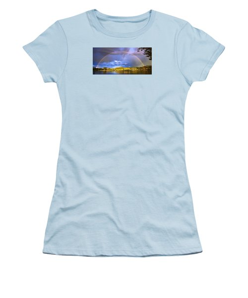 Women's T-Shirt (Junior Cut) featuring the photograph Wake Up Rainbow  by Kadek Susanto