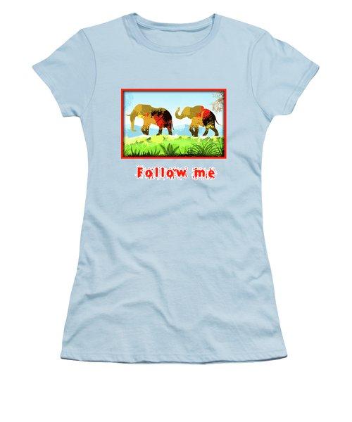 Walk With Me Women's T-Shirt (Junior Cut) by Anthony Mwangi