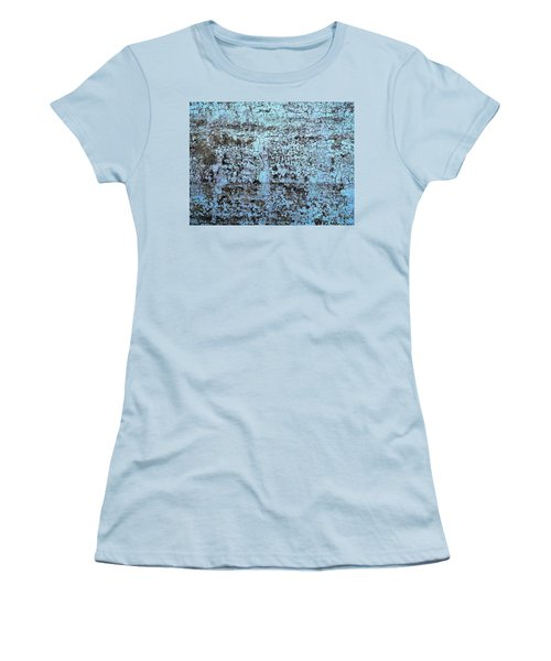 Women's T-Shirt (Junior Cut) featuring the photograph Wall Abstract 163 by Maria Huntley