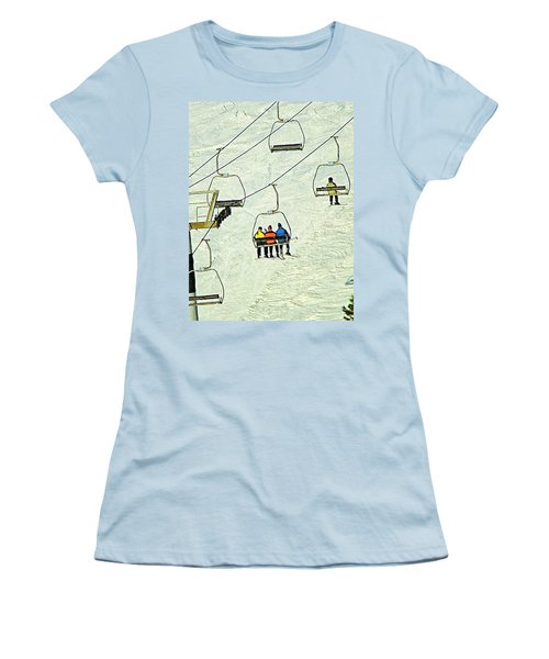 Wanna Lift Women's T-Shirt (Junior Cut) by Wendy McKennon