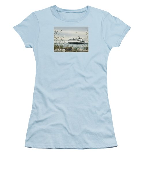 Washington State Ferry Women's T-Shirt (Junior Cut) by James Williamson