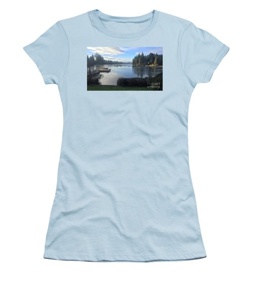 Women's T-Shirt (Junior Cut) featuring the photograph Watching The Ice Melt by Victor K