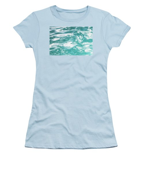 Water Abstract 001 Women's T-Shirt (Junior Cut) by Rich Franco