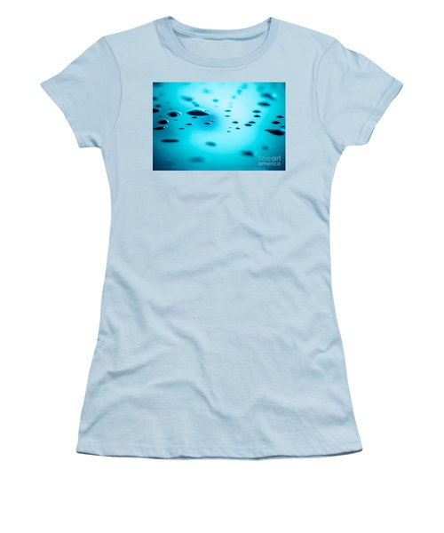 Water Drops On Surface 5 Women's T-Shirt (Athletic Fit)