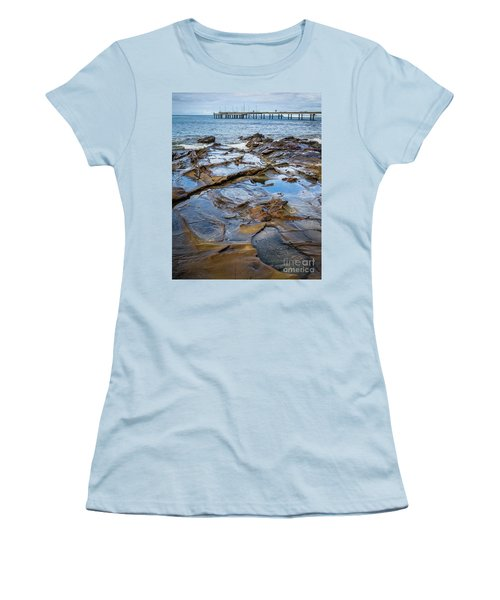 Women's T-Shirt (Junior Cut) featuring the photograph Water Pool by Perry Webster