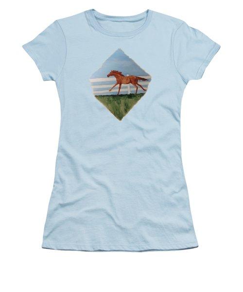 Watercolor Pony Women's T-Shirt (Junior Cut) by Joyce Wasser