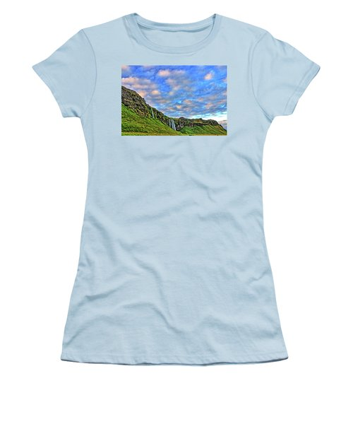 Women's T-Shirt (Junior Cut) featuring the photograph Waterfall Hill by Scott Mahon