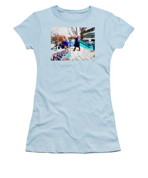 Waterloo Street Scene Women's T-Shirt (Junior Cut) by Judi Saunders