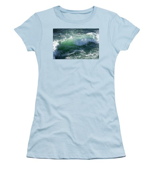 Wave At Montana De Oro Women's T-Shirt (Junior Cut)