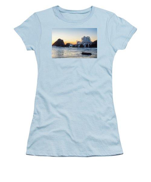 Wave Burst Women's T-Shirt (Athletic Fit)