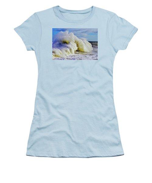 Moody Surf Women's T-Shirt (Junior Cut) by Michael Cinnamond
