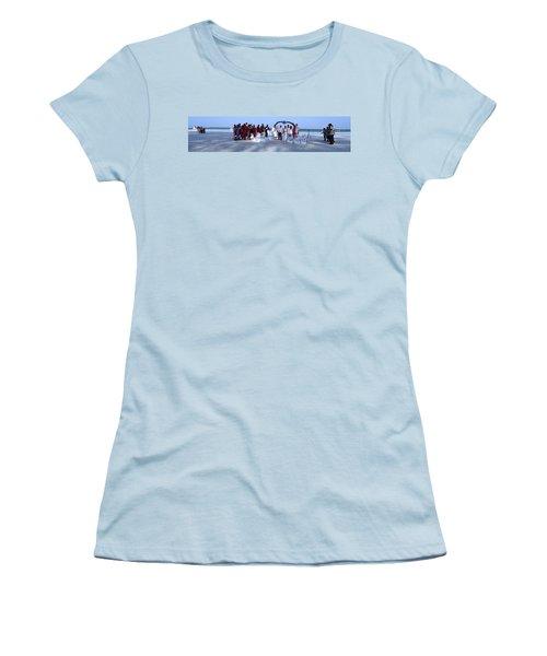 Wedding Complete Panoramic Kenya Beach Women's T-Shirt (Junior Cut) by Exploramum Exploramum