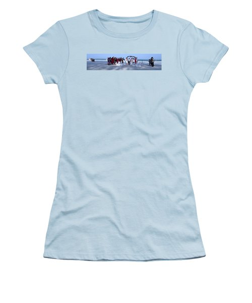 Wedding Complete Panoramic Kenya Beach Women's T-Shirt (Athletic Fit)