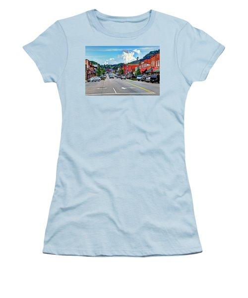 West Jefferson Streetscape Women's T-Shirt (Junior Cut) by Dale R Carlson