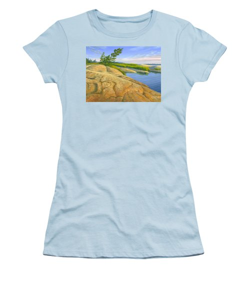 Women's T-Shirt (Junior Cut) featuring the painting Wind Swept by Michael Swanson