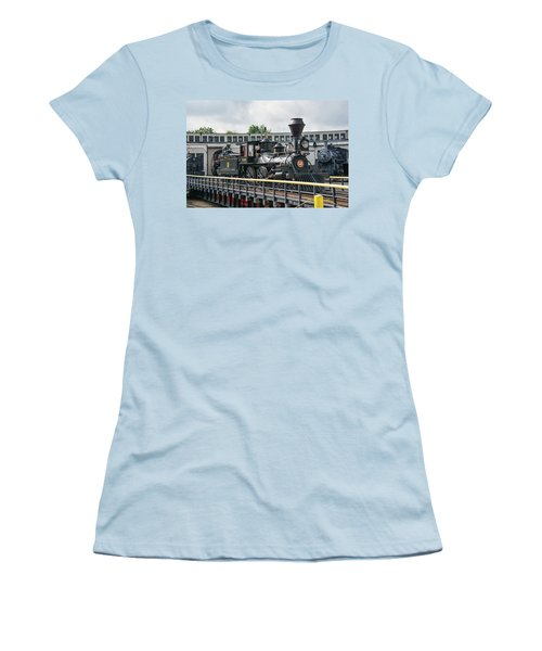 Western And Atlantic 4-4-0 Steam Locomotive Women's T-Shirt (Junior Cut) by John Black