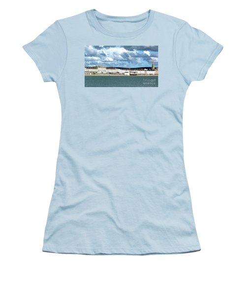 Weymouth Seafront Women's T-Shirt (Junior Cut) by Stephen Melia