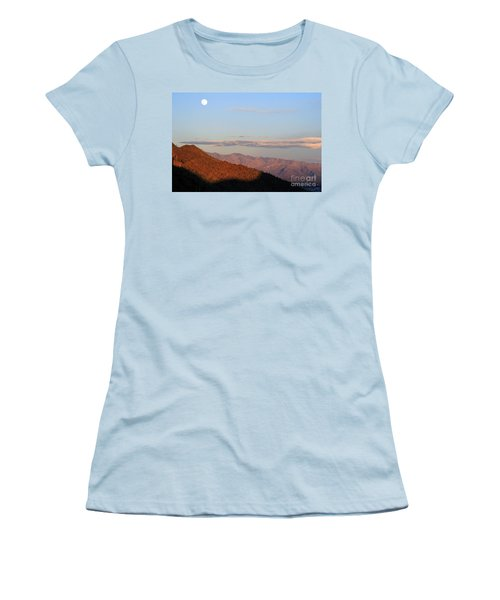 Women's T-Shirt (Junior Cut) featuring the photograph When The Mountains Turn Pink... by Paula Guttilla