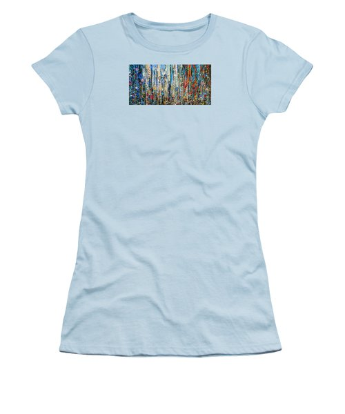 Where Wild Roses Bloom - Large Work Women's T-Shirt (Athletic Fit)