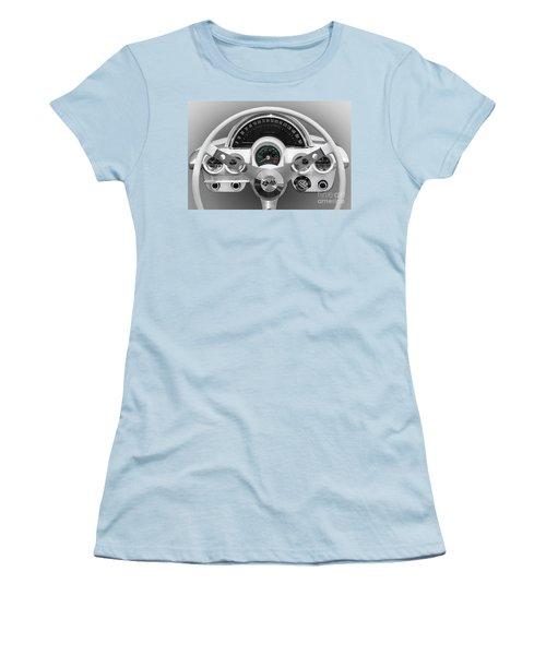 Women's T-Shirt (Junior Cut) featuring the photograph White C1 Dash by Dennis Hedberg
