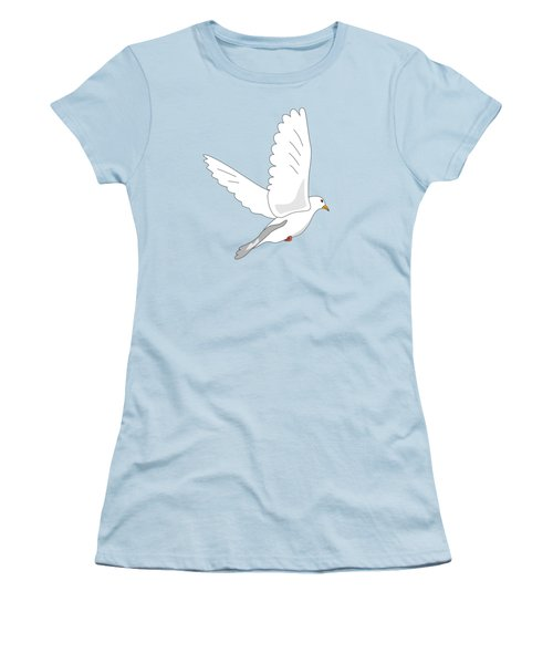 White Dove Women's T-Shirt (Junior Cut) by Miroslav Nemecek