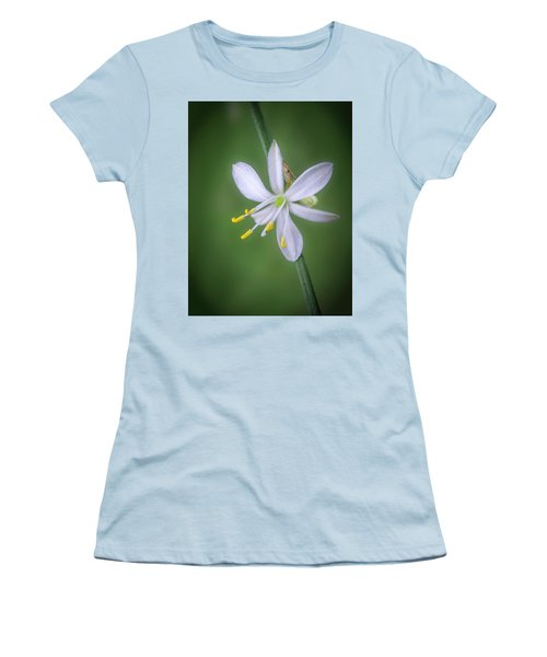 Women's T-Shirt (Athletic Fit) featuring the photograph White Flower by Lynn Geoffroy