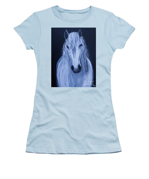 White Horse Women's T-Shirt (Junior Cut) by Stacey Zimmerman