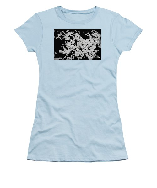 White Lego Abstract Women's T-Shirt (Athletic Fit)