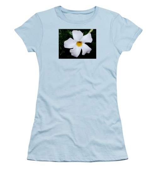 White Mandevilla Women's T-Shirt (Athletic Fit)