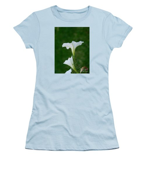 White Petunia Blossoms Women's T-Shirt (Athletic Fit)