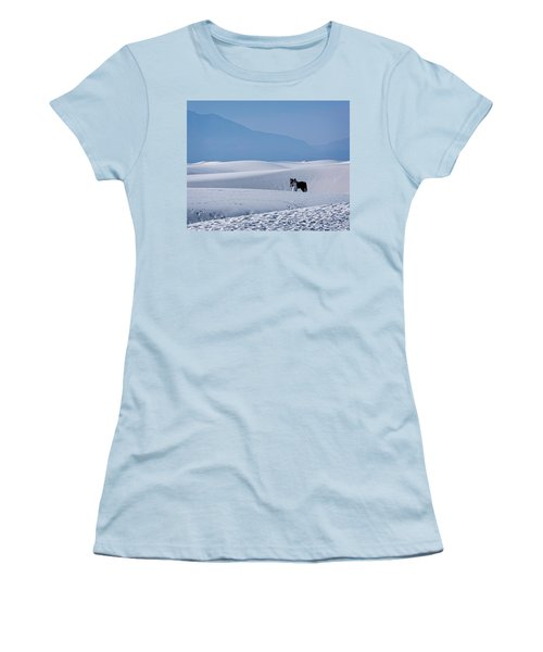 White Sands Horse And Rider #5b Women's T-Shirt (Athletic Fit)