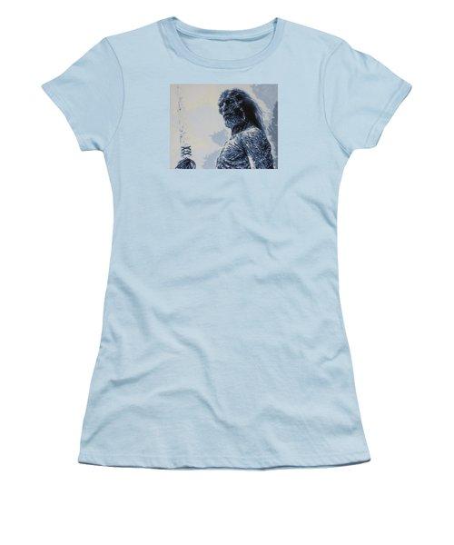 Women's T-Shirt (Junior Cut) featuring the painting White Walker by Luis Ludzska