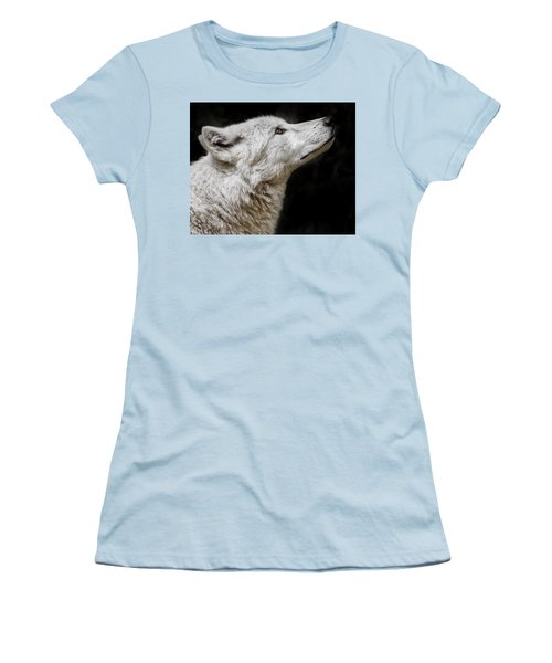White Wolf Women's T-Shirt (Athletic Fit)