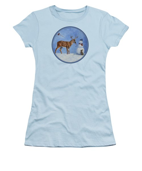 Whose Carrot Seasons Greeting Women's T-Shirt (Junior Cut) by Crista Forest