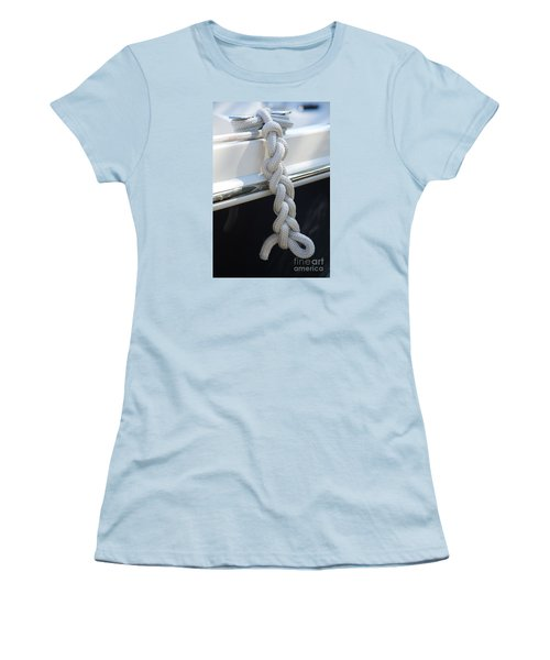 Why Knot? Women's T-Shirt (Junior Cut) by Sandy Molinaro