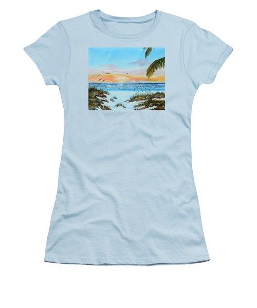 Why Not Siesta Key Women's T-Shirt (Junior Cut) by Lloyd Dobson