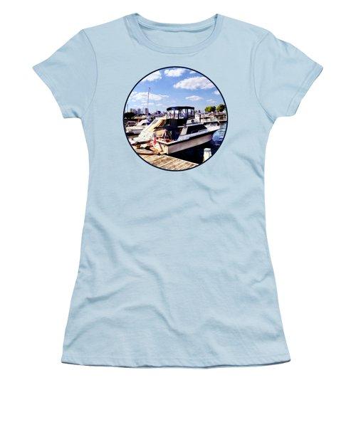 Wiggins Park Marina Women's T-Shirt (Junior Cut) by Susan Savad