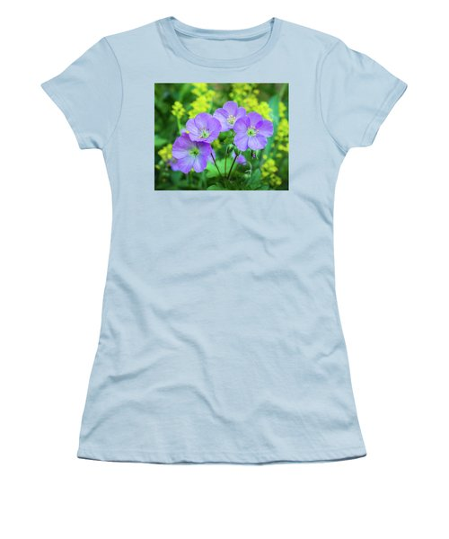 Wild Geranium Family Portrait Women's T-Shirt (Athletic Fit)