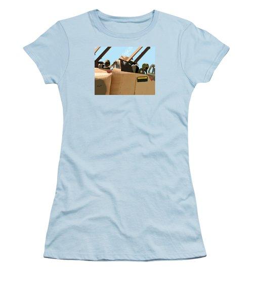 Women's T-Shirt (Junior Cut) featuring the digital art Wild Weasels by Walter Chamberlain