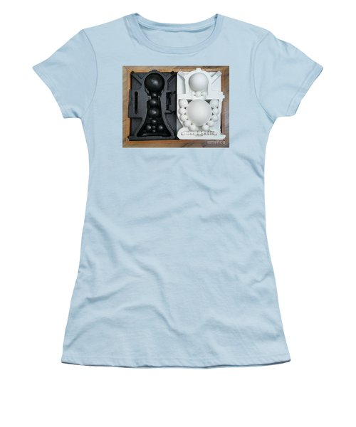 Women's T-Shirt (Athletic Fit) featuring the painting Willendorf Wedding 2 by James Lanigan Thompson MFA