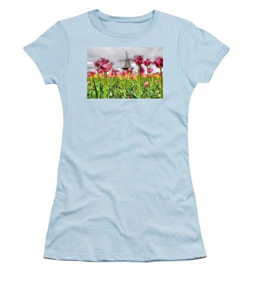 Women's T-Shirt (Junior Cut) featuring the photograph Windmill Island by Robert Pearson