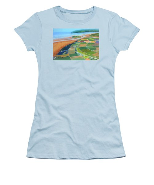 Wings Over Grand Pre' Women's T-Shirt (Junior Cut) by Rae  Smith