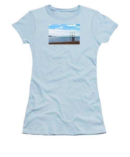 Women's T-Shirt (Junior Cut) featuring the photograph Winter Beach by Valentino Visentini