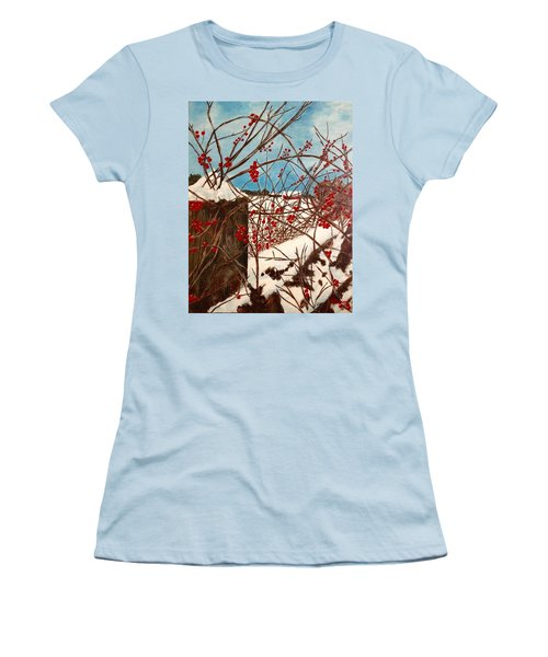 Winter Berries Women's T-Shirt (Athletic Fit)