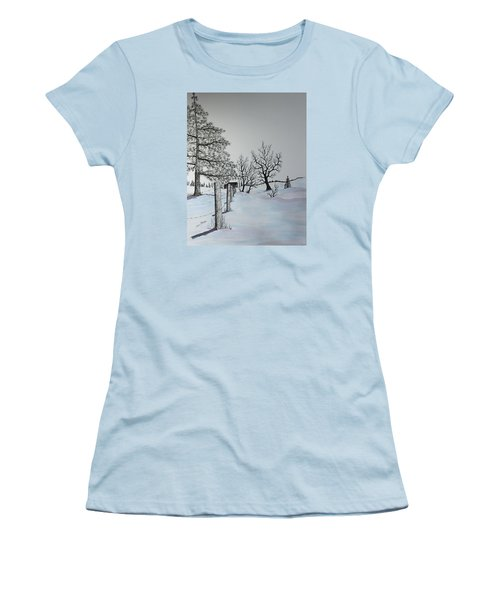 Winter Blues Women's T-Shirt (Junior Cut) by Jack G  Brauer
