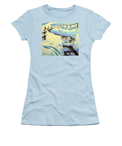 Winter Brook Women's T-Shirt (Athletic Fit)