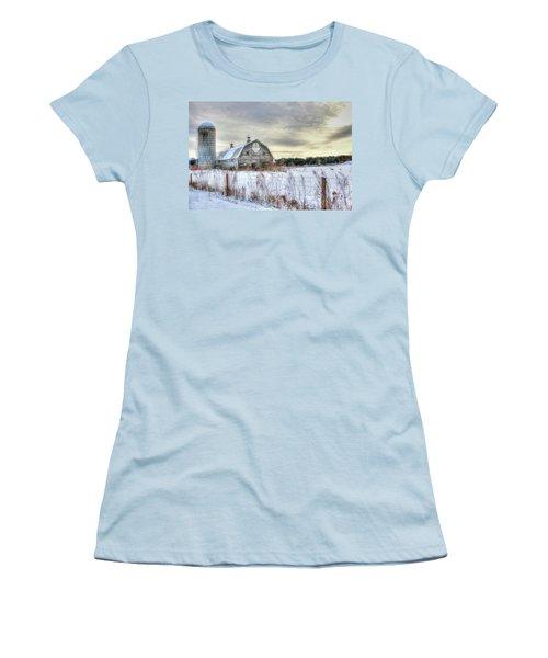 Winter Days In Vermont Women's T-Shirt (Junior Cut) by Sharon Batdorf